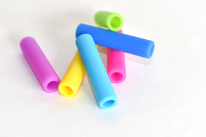 Silicone Straw Tips in a 6-pack of Mixed Colors : Silicone Tip Collection