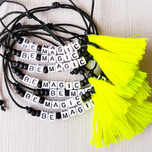 Bracelet BE MAGIC jaune Fluo