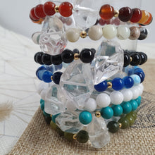 Load image into Gallery viewer, Bracelet SALEM  - agate rouge et quartz