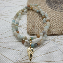Load image into Gallery viewer, Bracelet double TEOTIHUACAN - Amazonite