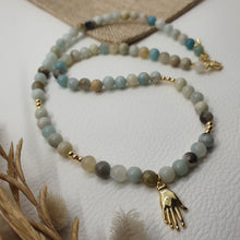 Load image into Gallery viewer, Collier BURANO - amazonite et main