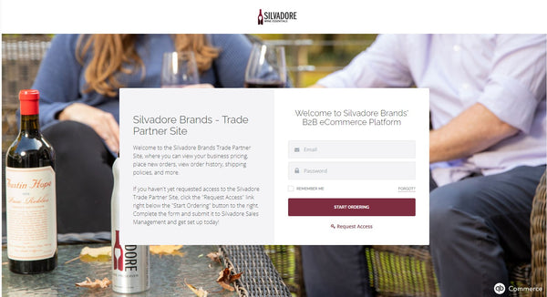 Silvadore Online B2B Ordering Site