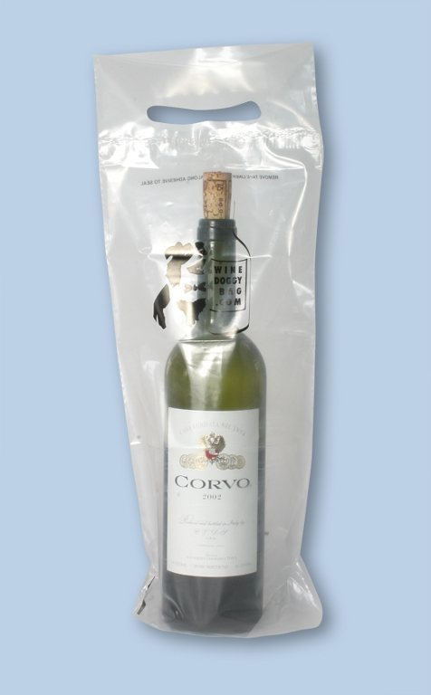 """Merlot to Go"" State Law Compliant Wine Bags for Take Home Use"