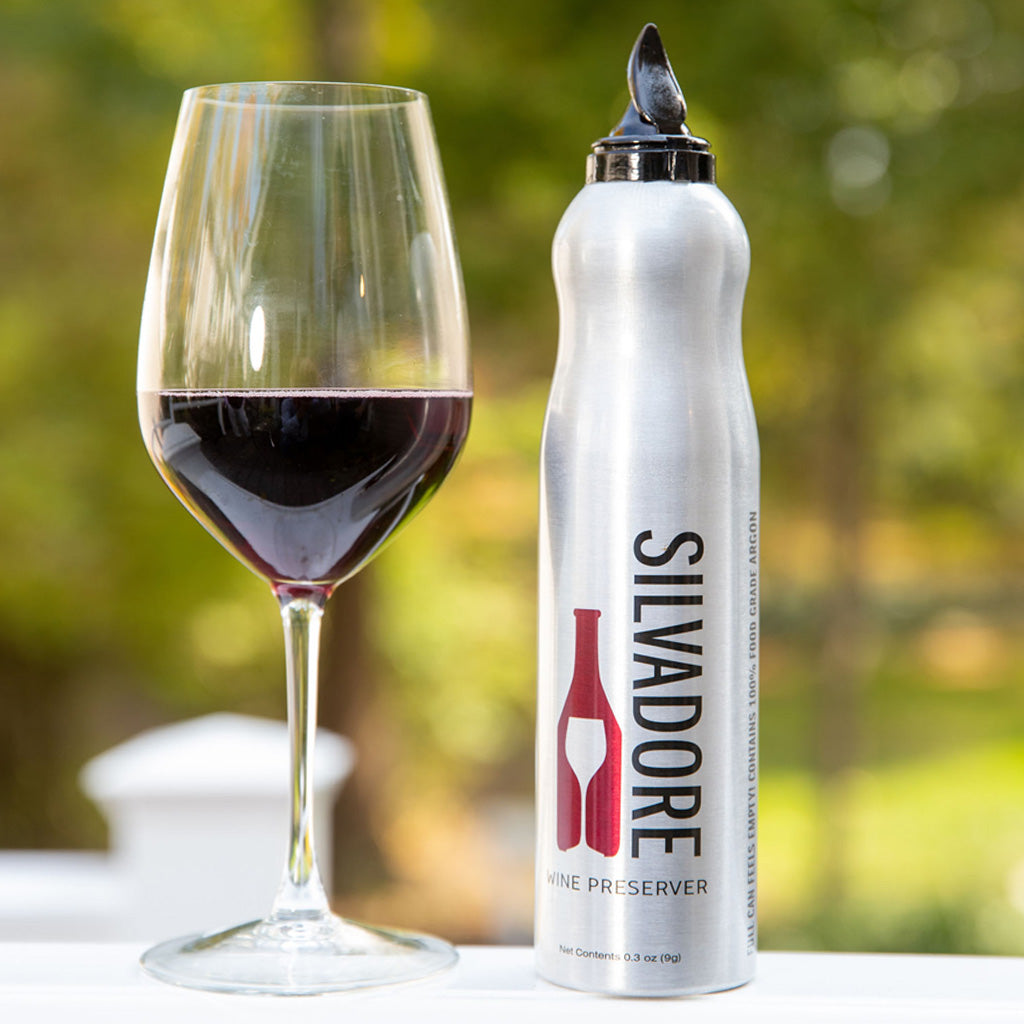Silvadore Wine Preserver | 100% Argon Wine Preserver to Save Open Bottles of Wine