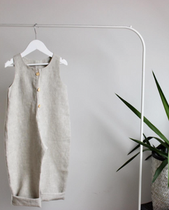 Natural Linen Overall - The Tiny Urban