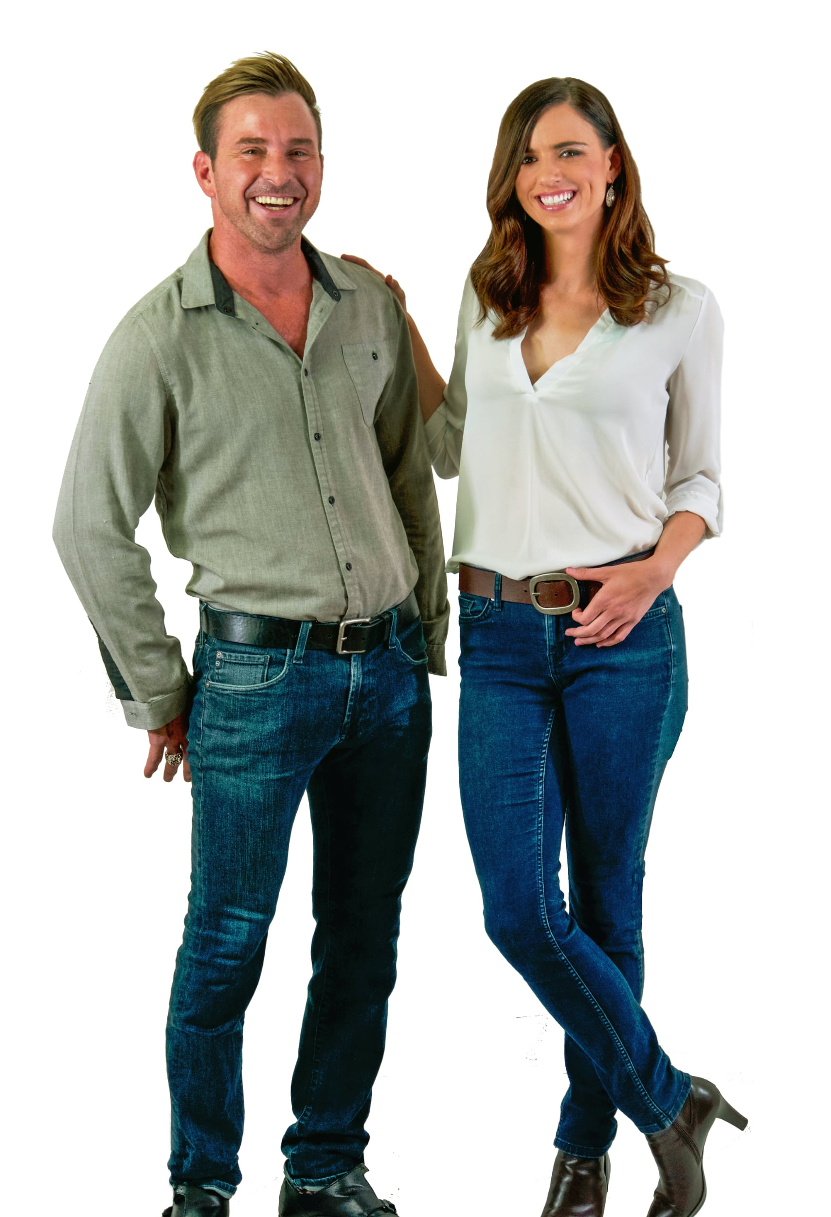 happy couple with Lynn Taylor expandable belt