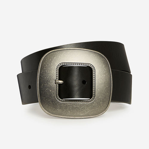 Vintage Oval - Black Bridle Belt