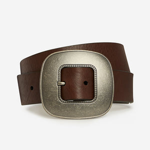 Vintage Oval - Brown Bridle Belt