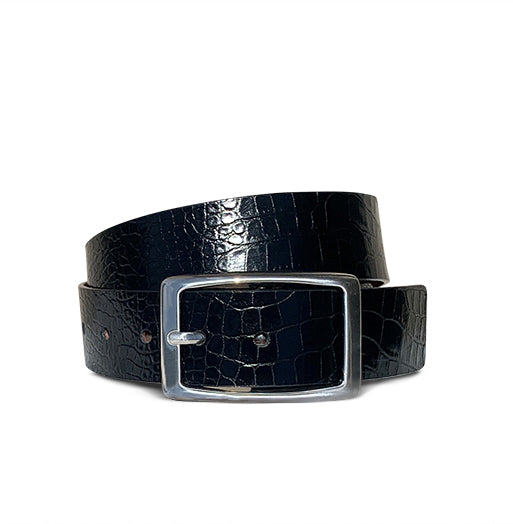 Cool Rectangle - Black Snakeskin