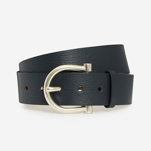 Revel in Pebble - Navy Pebble Grain Belt
