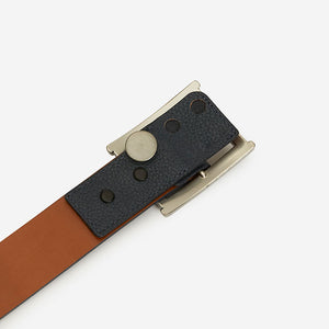 Fancy Rectangle - Navy Pebble Grain Belt Extender