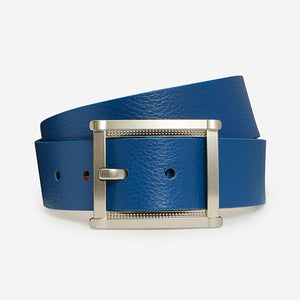 Fancy Rectangle - Aqua Pebble Belt