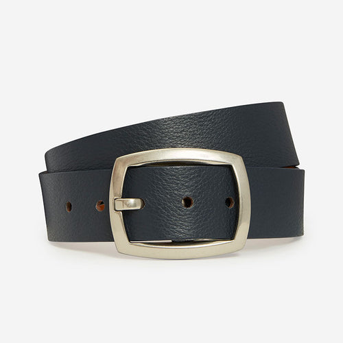 Cool Rectangle - Navy Pebble Grain