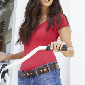 Buckleless Snap Belt - Brown Bridle Model