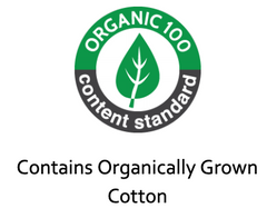 Organic Content Standard OCS100 contains organically grown cotton