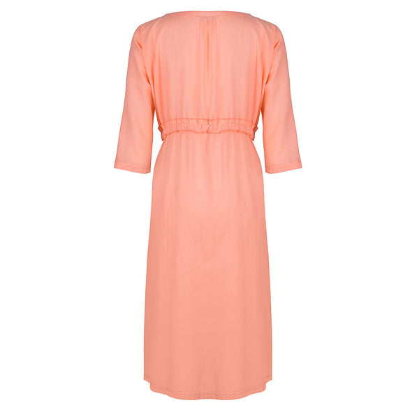 Flamingo Pleated Dress