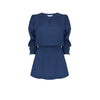 French Navy Shirred Tunic