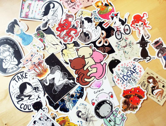 Stickers - Enameled Pins - Patches - Magnets - etc