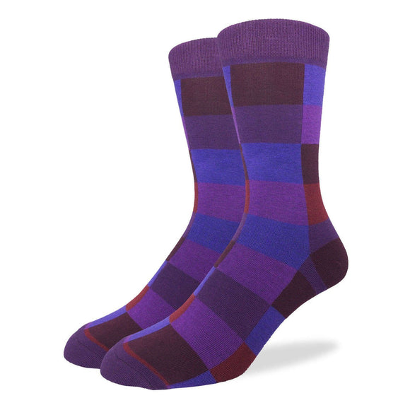 Good Luck Socks Checkered Purple