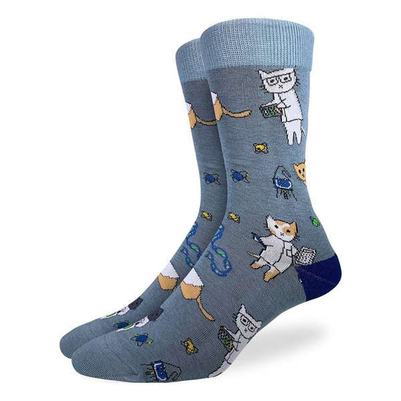 Good Luck Men's Science Cats Socks