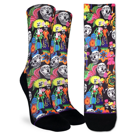 Good Luck Sock Women's Catrinos & Catrinas Skulls