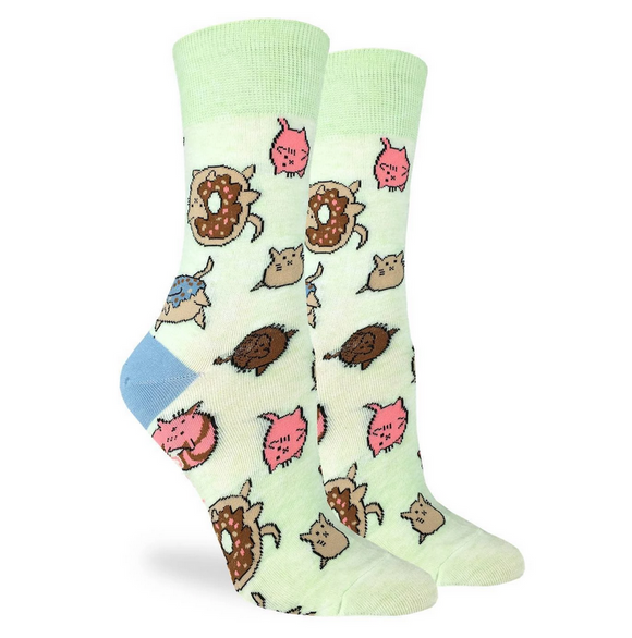Good Luck Sock Women's Donut Cats