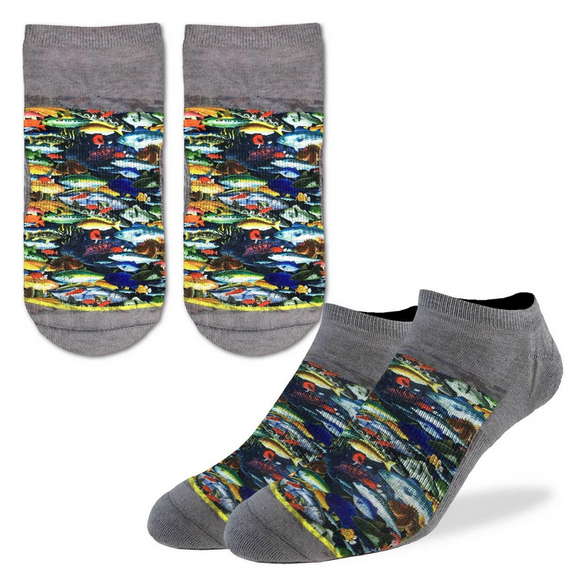 Good Luck Sock Men's School of Fish Ankle