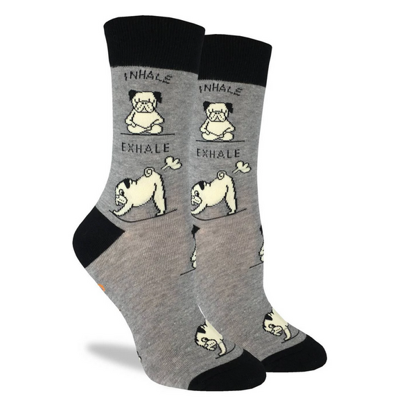 Good Luck Sock Women's Yoga Pug