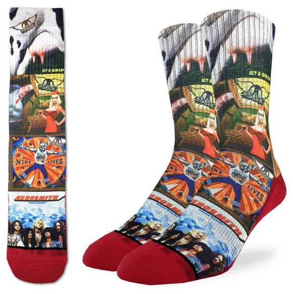 Good Luck Sock Men's Aerosmith Albums