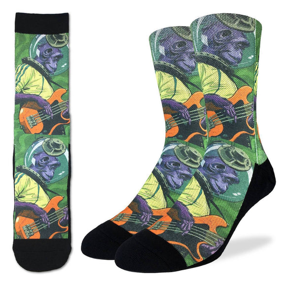 Good Luck Sock Men's Rockin Space Chimp