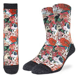 Good Luck Sock Men's Floral Farm