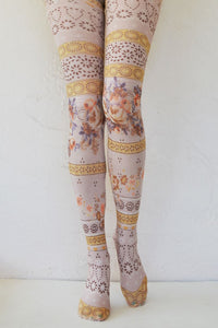 X Printed Tights