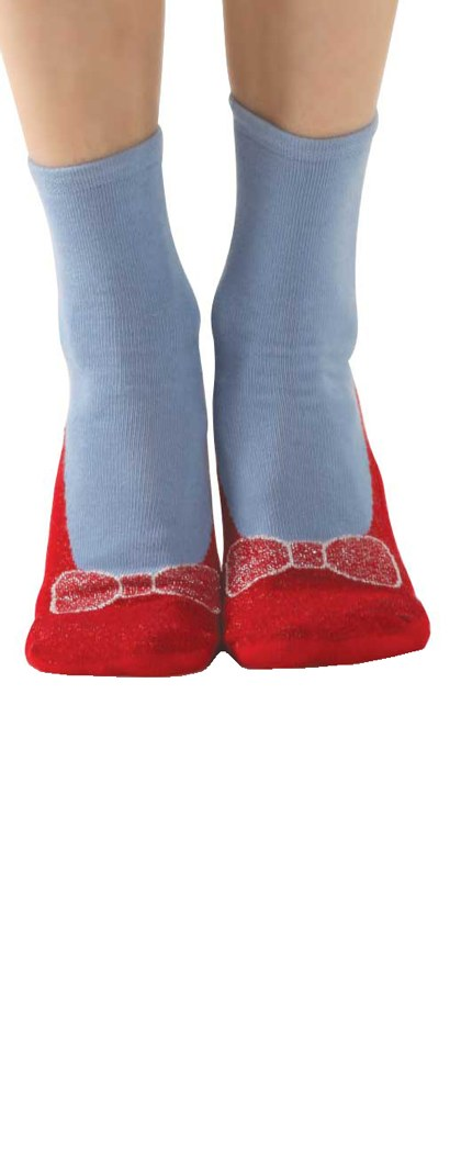 Foot Traffic Red Slipper Socks