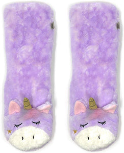 Magic Unicorn, Plush Sherpa Slippers