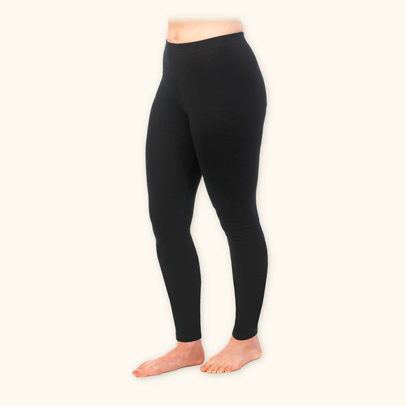 Basic Leggings, 93% Organic Cotton, Ankle Length