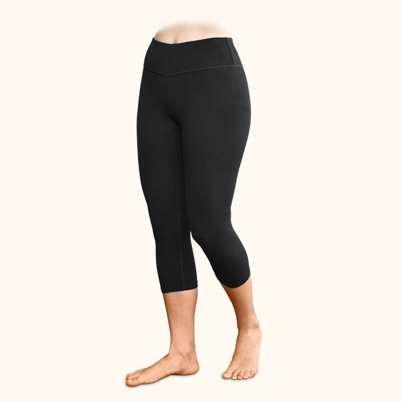 Blackout Leggings, 90% Organic Cotton, Mid-calf Length