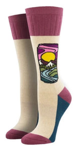 Brew With a View, Outlands Collection, Women's Boot Sock
