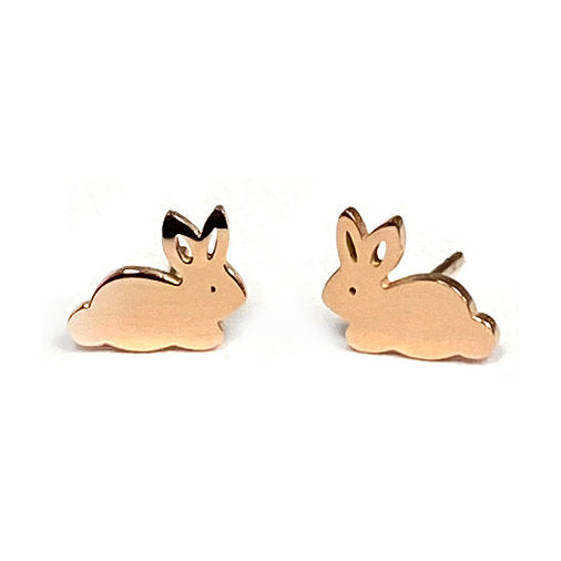 Bunny Boogie Lobes Earrings - Rose Gold / Stainless 316