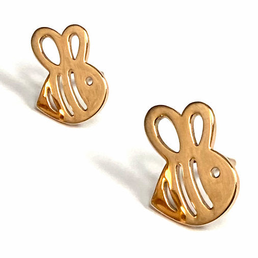 Busy Bee Boogie Lobes Earrings - Rose Gold / Stainless 316