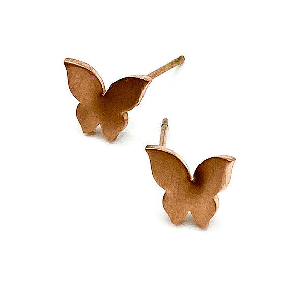 Butterfly Boogie Lobes Earrings - Rose Gold / Stainless 316