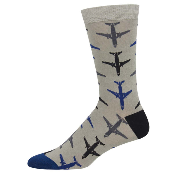 Airplanes, Socksmith Bamboo men's crew