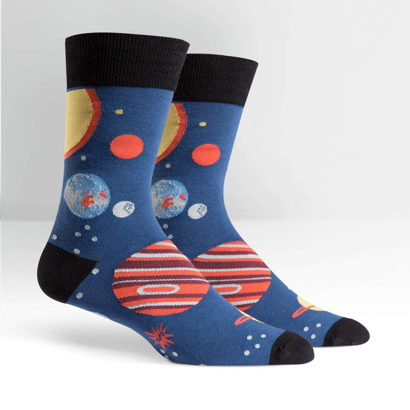 Sock It To Me Planets Mens Crew