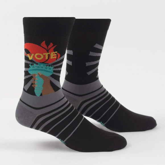 Liberty Enlights the World, Sock It To Me men's  crew