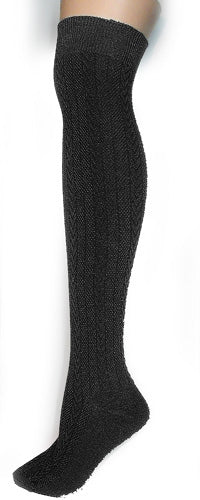 X Cable Knit Over The Knee