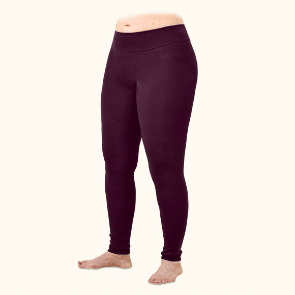 Rib Leggings, 95% Organic Cotton, Ankle Length