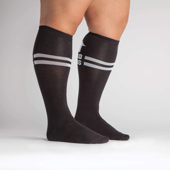 Bad Ass, Stretch-It™ Wide Calf Socks Knee-high