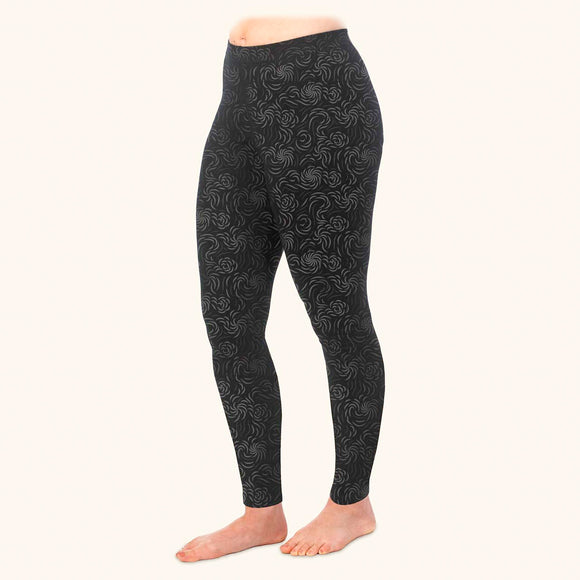 Flourish Print Ankle Leggings, Organic Cotton