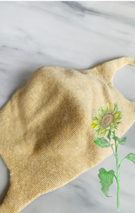 Kids/Small/Youth, z e r o w a s t e Botanical Dyed Organic Cotton Face Mask, Small/Youth (Tabbisocks Wellness)