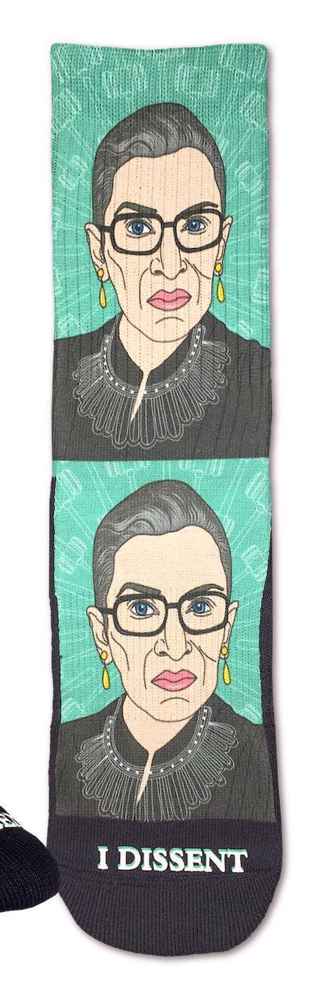 Ruth Bader Ginsburg, Large (8-13 Men's) Active Fit Crew