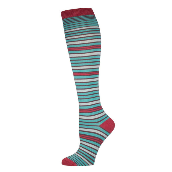 Multi Stripe, Bamboo, Women's Knee-high